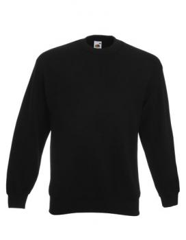 Fruit of the Loom - Classic Set-in Sweat Black