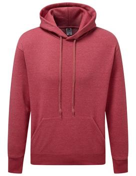 Fruit of the Loom - Premium Hooded Sweat - Heather Red