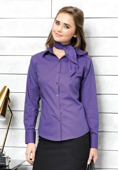 Premier Workwear - Ladies Poplin Long Sleeve Shirt