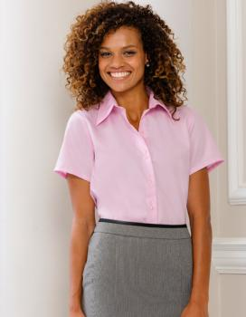 Russell Collection - Ladies Short Sleeve Ultimate Non-Iron Shirt