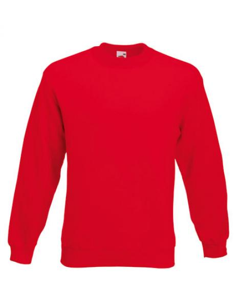 Fruit of the Loom - Classic Set-in Sweat Red