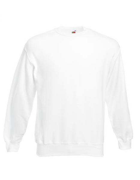 Fruit of the Loom - Classic Set-in Sweat - White