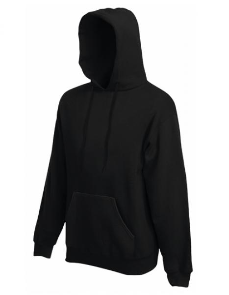 Fruit of the Loom - Premium Hooded Sweat - Black