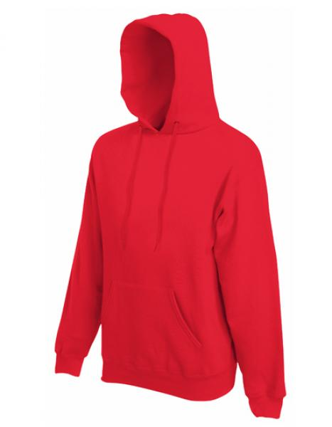Fruit of the Loom - Premium Hooded Sweat - Red